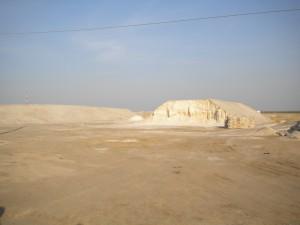 A salt mound